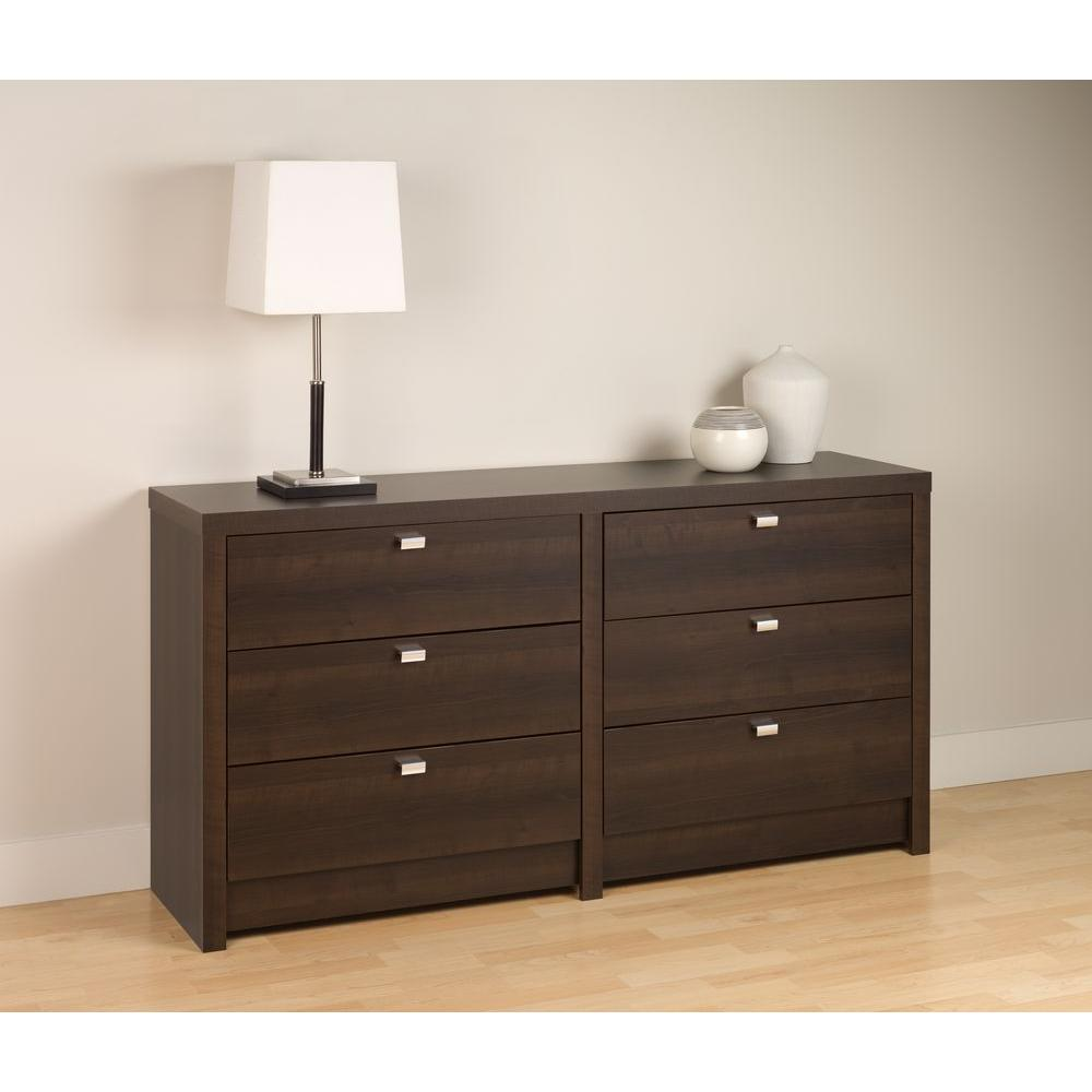 Prepac Series 9 6-Drawer Espresso Dresser-EDBR-0560-1 - The Home Depot