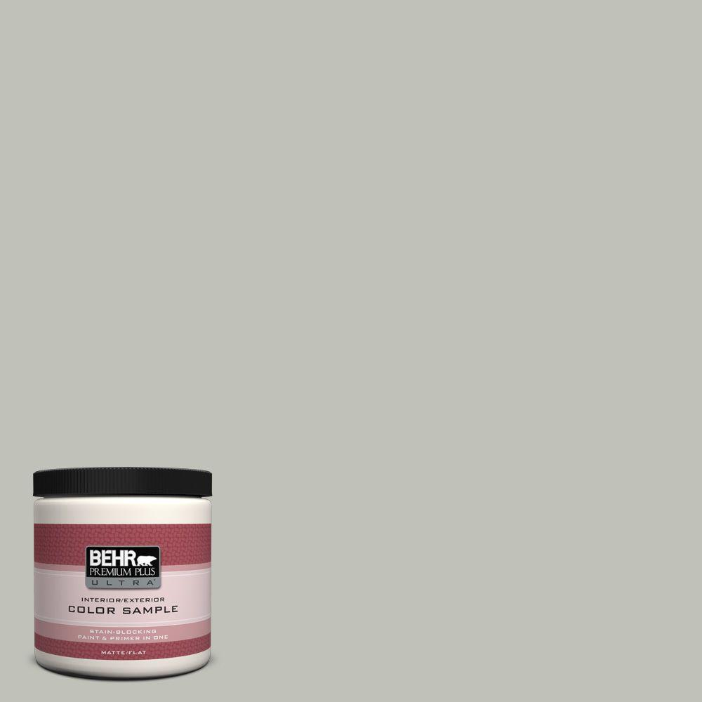 BEHR Premium Plus Ultra 8 oz. #UL210-8 Silver Sage Interior/Exterior Paint Sample