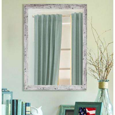 60 in. x 40 in. Weathered White Farmhouse Mirror