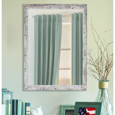 Large Rectangle Weather White Contemporary Mirror (48 in. H x 32 in. W)