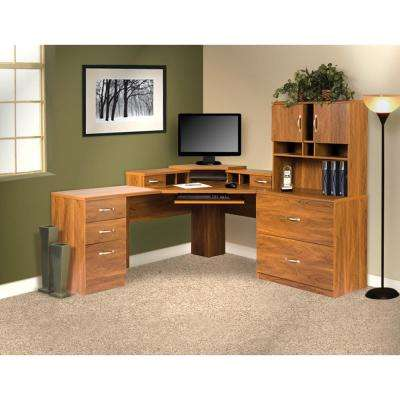 2-Drawer Brown Lateral File with Full Extention Ball bearing Drawer Glides