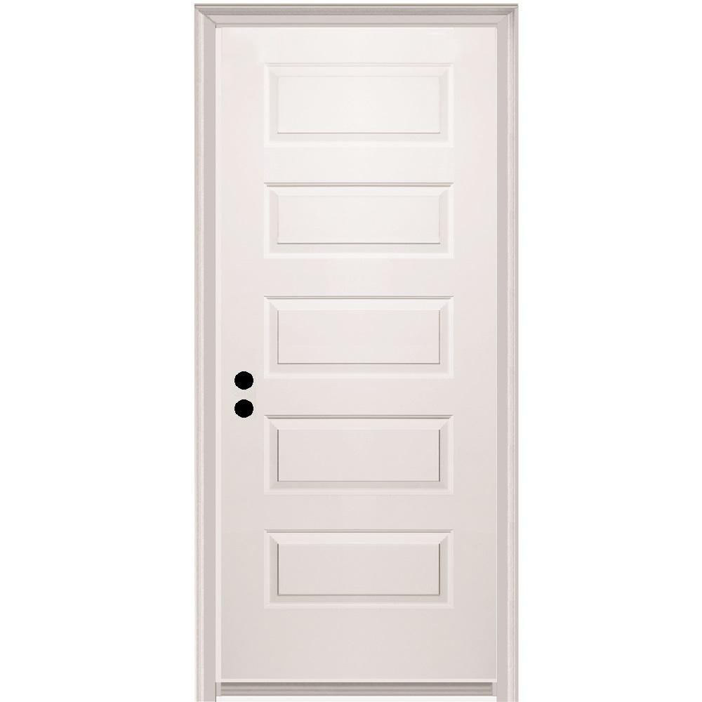 Mmi Door 32 In X 80 In Rockport Right Hand Primed Composite 20 Min Fire Rated House To Garage Single Prehung Interior Door Z020495r The Home Depot