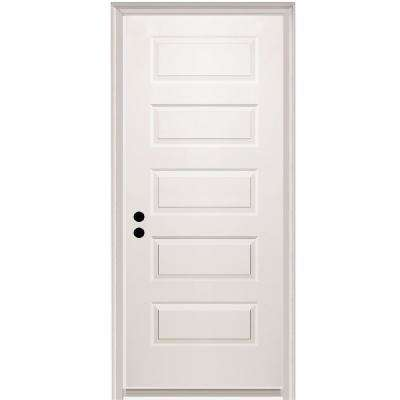 32 in. x 80 in. Rockport Right-Hand Primed Composite 20 Min. Fire-Rated House-to-Garage Single Prehung Interior Door