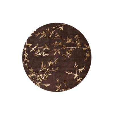 Chaparral Chocolate 8 ft. x 8 ft. Round Area Rug