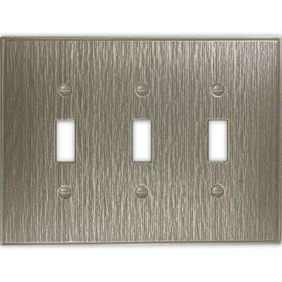 3-Gang Toggle Wall Plate, Brushed Nickel