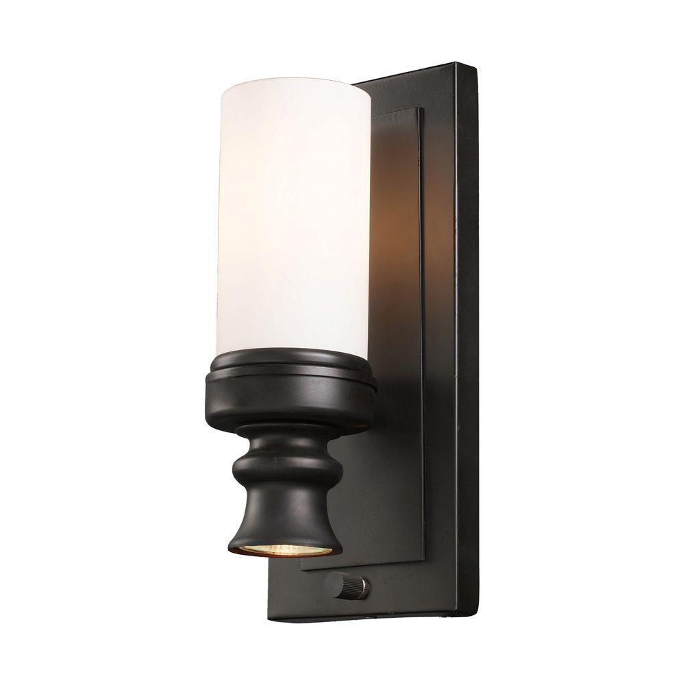 Titan Lighting Newfield 2-Light Oiled Bronze Wall Mount Bath Bar ...