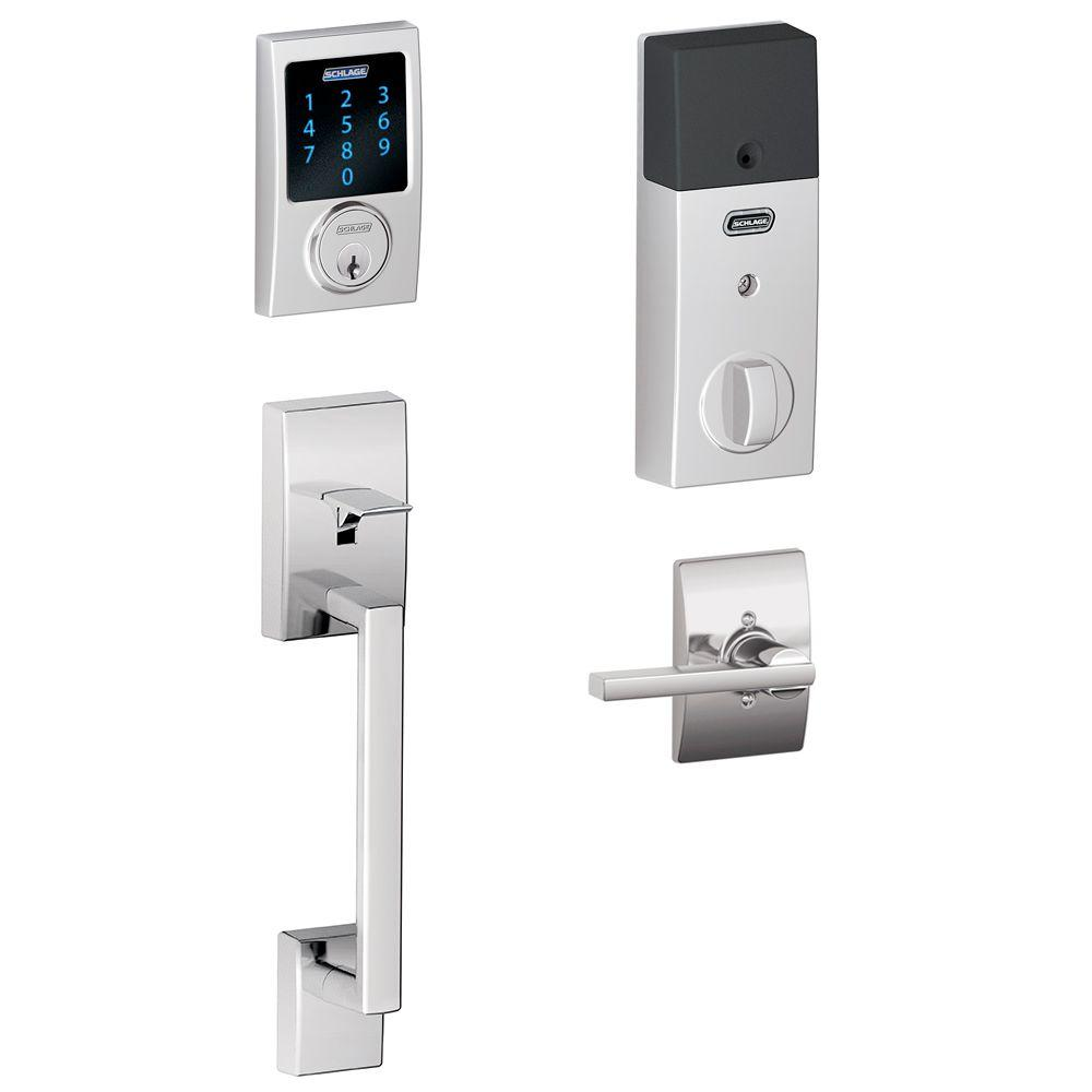 Schlage Century Bright Chrome Connect Smart Lock With
