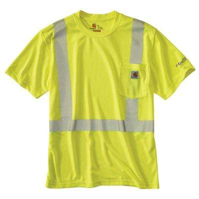 Personal Protective Regular XXXX Large Brite Lime Polyester Short-Sleeve T-Shirt