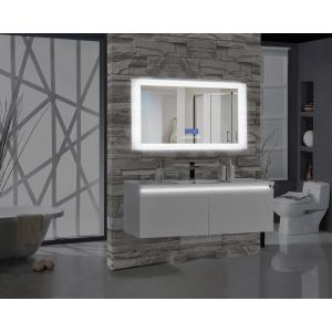 Encore BLU102 60 inch W x 27 inch H Rectangular LED Illuminated Bathroom Mirror with Bluetooth Audio Speakers by