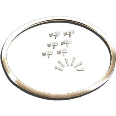 Stainless Steel Sink Frame Hudee Rim 16 in. x 19 in. Oval Sink-Specify Sink