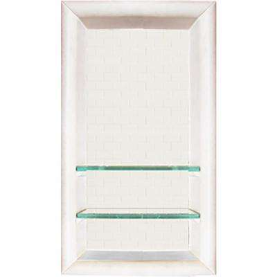 Classic Style 12 in. x 4 in. x 24 in. Shower Niche in Natural Buff