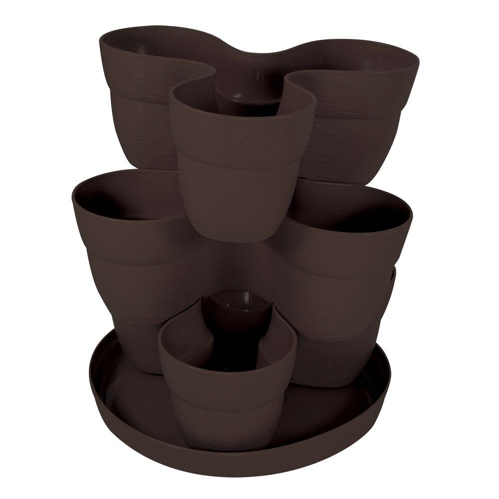 Emsco 13 In 3 Tier Resin Flower And Herb Vertical Gardening Planter