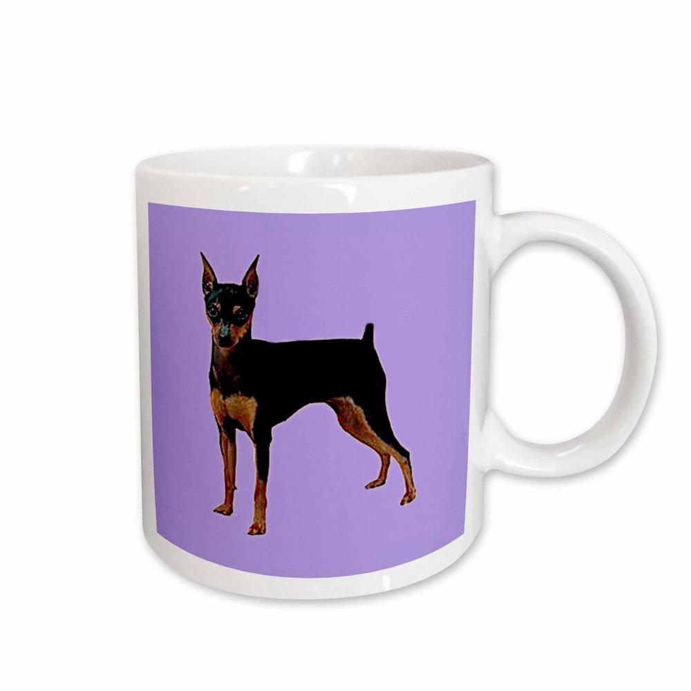 Dogs 11 oz. White Ceramic Miniature Pinscher Mug