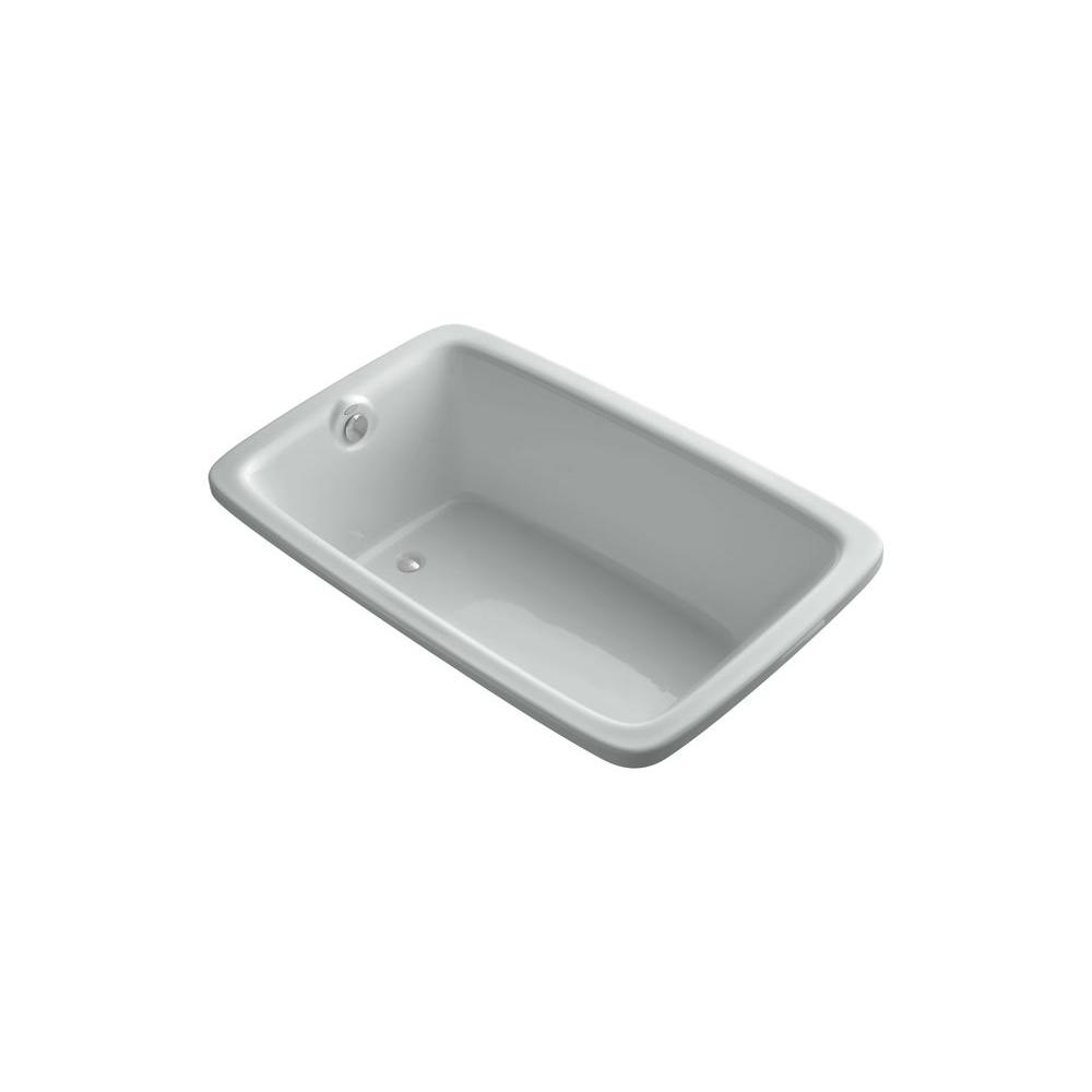 KOHLER Bancroft 5.5 ft. Reversible Drain Bathtub in Ice Grey