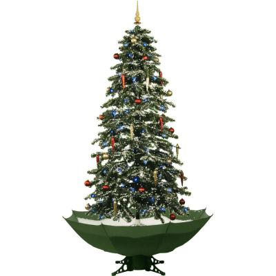 67 in. Snowing Musical Christmas Tree with Green Base and Snow Function