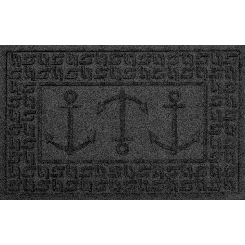 Charcoal 24in x 36 in. Ahoy! Polypropylene Door Mat