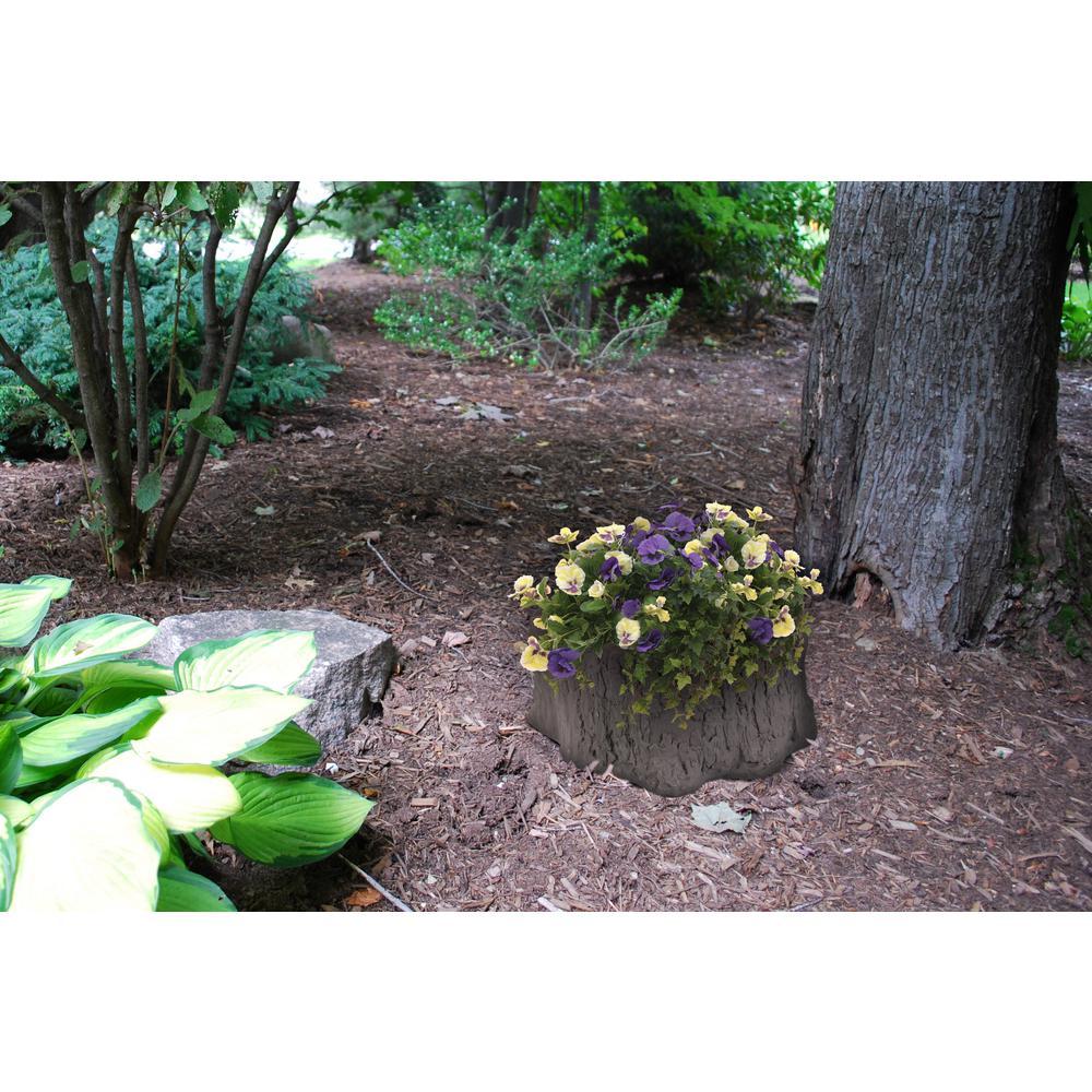 16 in. Tree Stump Resin Garden Planter