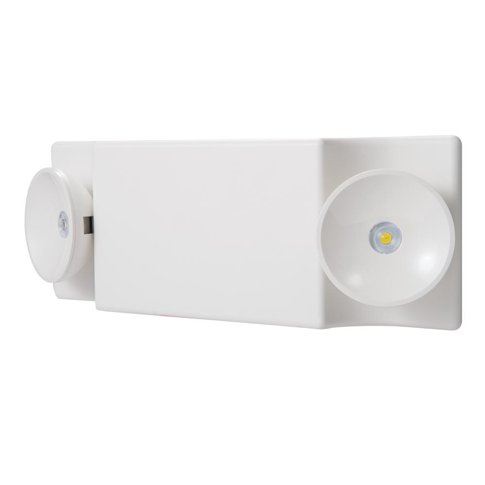 SureLites Sure-Lites SEL White Integrated LED Plastic Emergency Light with NiCad Battery and Coverage Area of 25 ft.