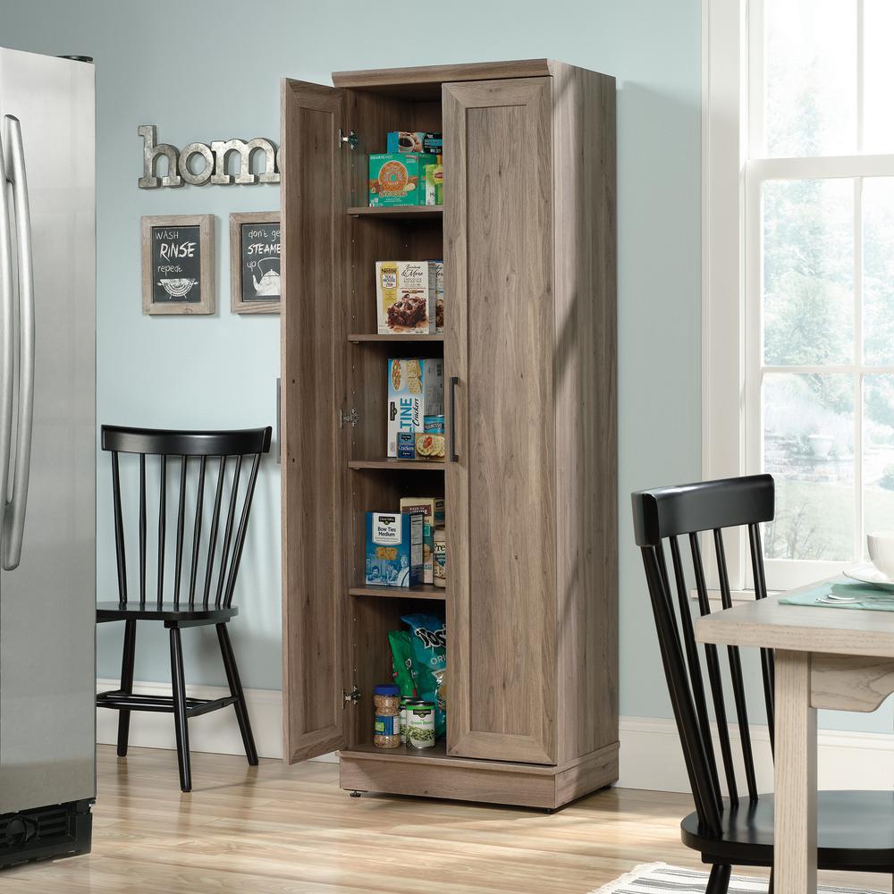SAUDER HomePlus 23 in. Salt Oak Wide Storage Cabinet