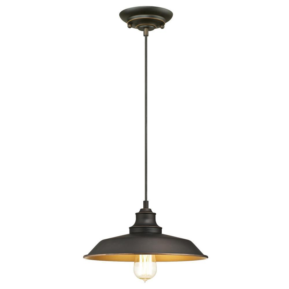 Westinghouse Iron Hill 1 Light Oil Rubbed Bronze Pendant