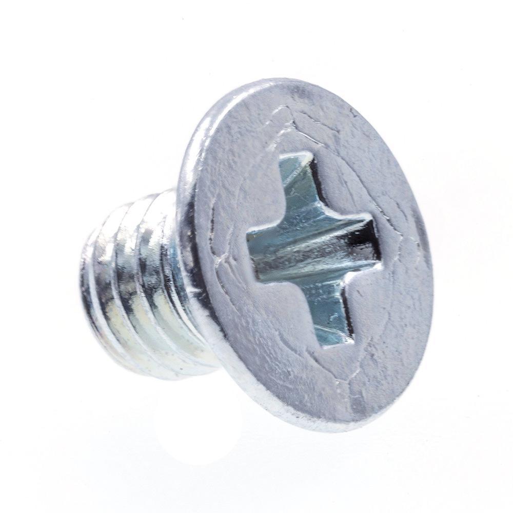 Machine Screws, Metric, Flat Head, Phillips Drive, M3-0.5 X 4MM, Zinc Plated Steel, 25-Pack