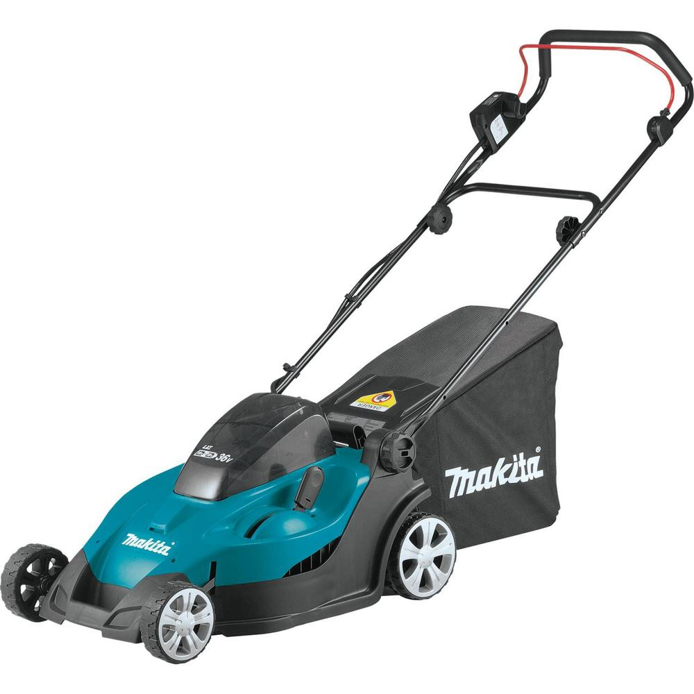 Makita 17 in. 18-Volt X2 (36-Volt) LXT Lithium-Ion Battery Cordless Walk Behind Lawn Mower - Battery/Charger Not Included