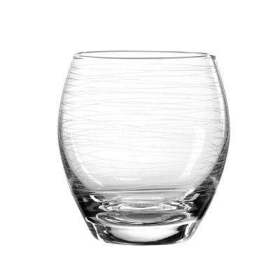Graffiti 11 oz. Double Old Fashioned Glass (4-Piece Set)