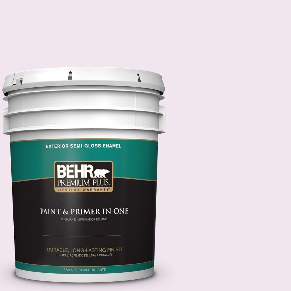 BEHR Premium Plus 5-gal. #650A-1 Rose Fantasy Semi-Gloss Enamel Exterior Paint
