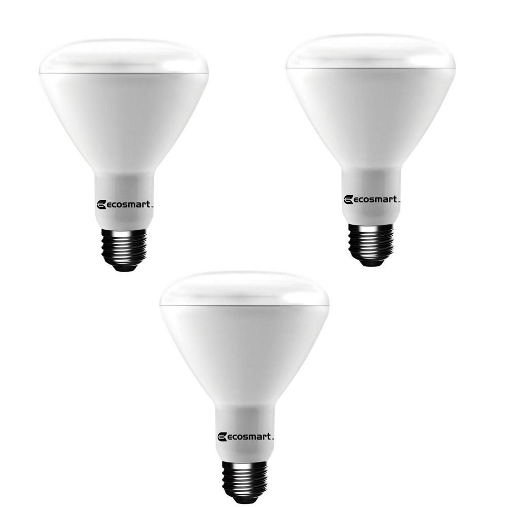 65-Watt Equivalent BR30 Dimmable LED Light Bulb Soft White (3-Pack)