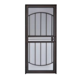 Grisham 32 in x 80 in 555 series tuscany copper vein steel prehung security door 55581 the - Home depot security gate ...