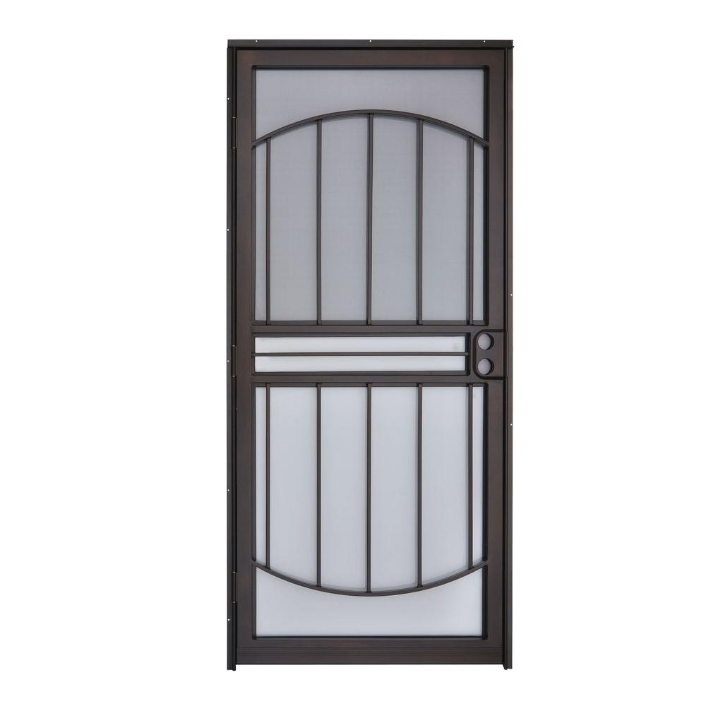 Attirant Grisham 36 In. X 80 In. 555 Series Tuscany Copper Vein Steel Prehung  Security