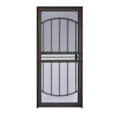 36 in. x 80 in. 555 Series Tuscany Copper Vein Steel Prehung Security Door