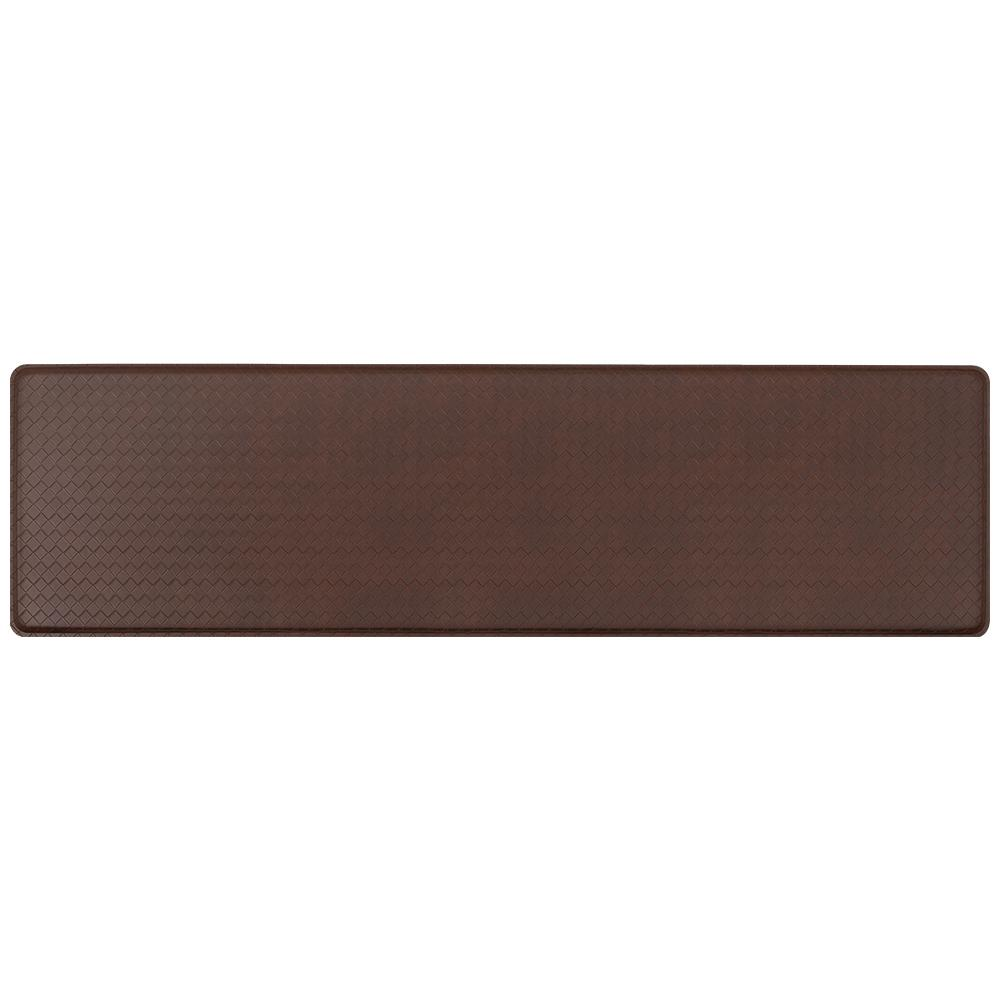 GelPro Classic Basketweave Truffle 20 In. X 72 In. Comfort Kitchen Mat