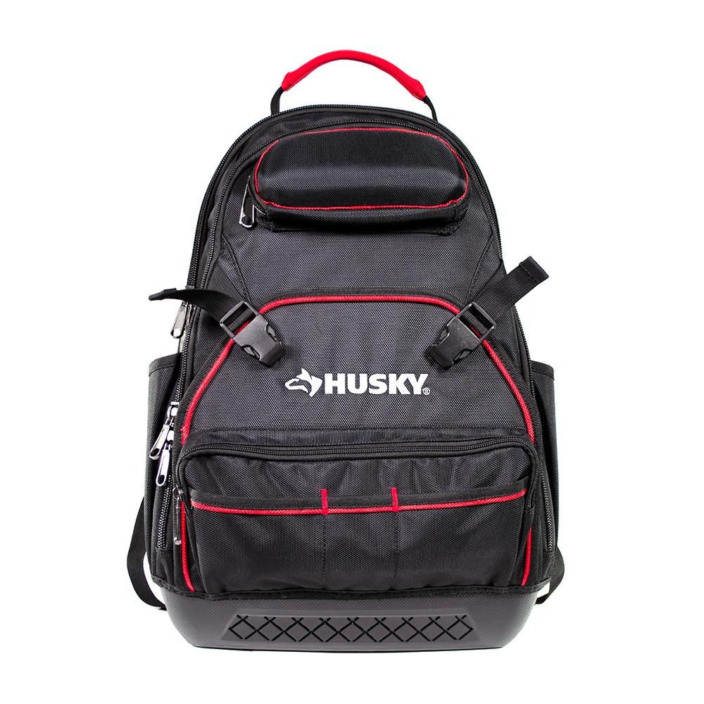 Husky Husky 18 in. Pro Black Backpack