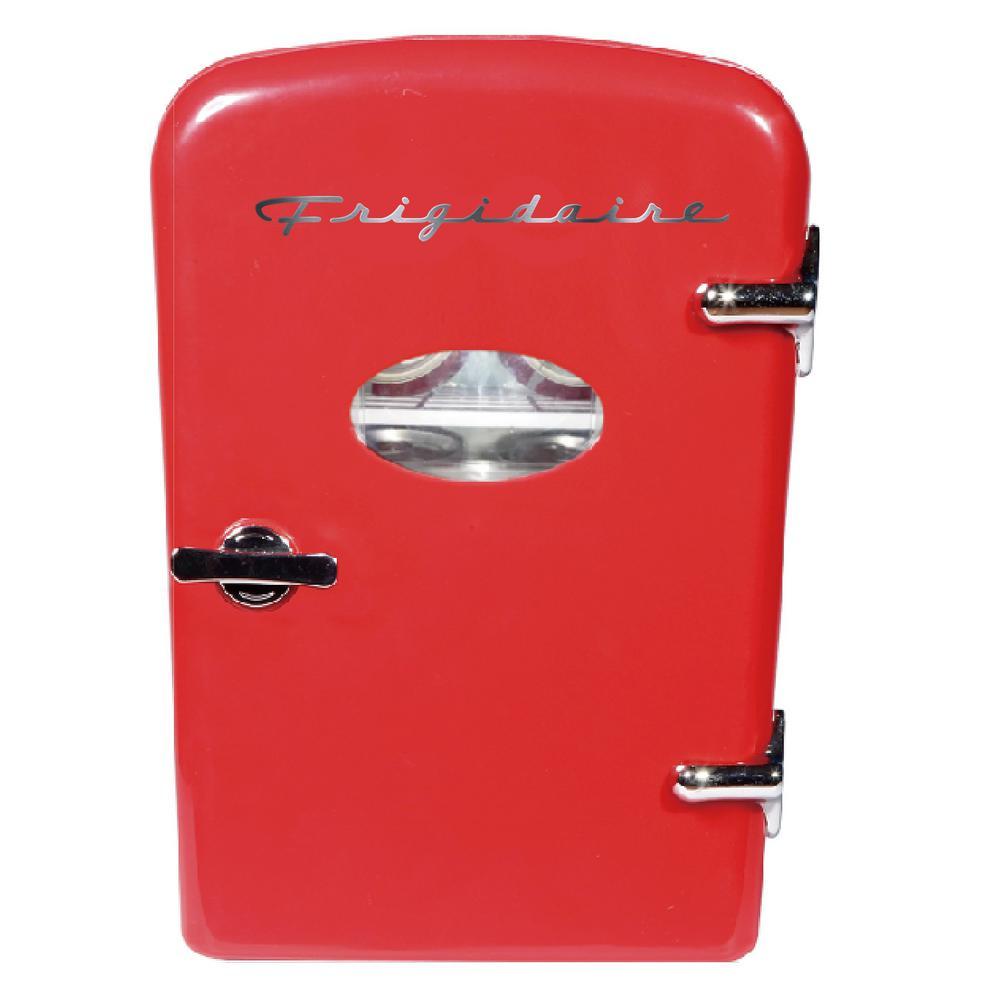 Frigidaire 6 Can Mini Retro Mini Refrigerator in Red