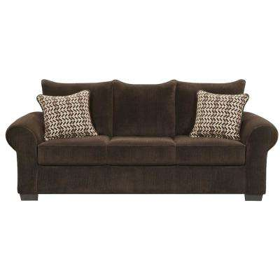 Brandywine 3-Piece Chocolate Living Room Set (Sofa, Loveseat and Extra-Large Chair)