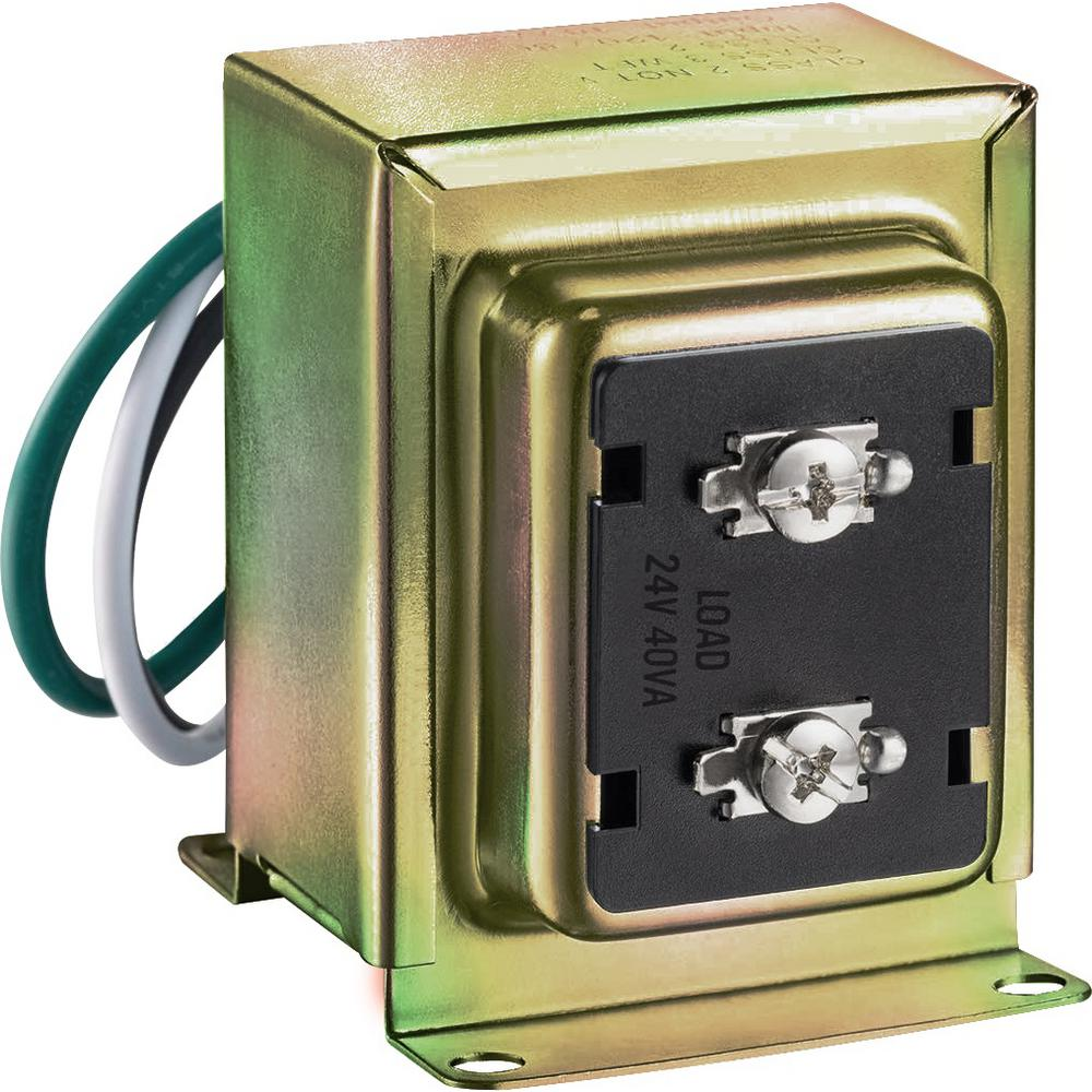 NewhouseHardware Newhouse Hardware 24-Volt 40vA Wired Door Bell Transformer for Powering Multiple Smart Doorbells and Thermostats