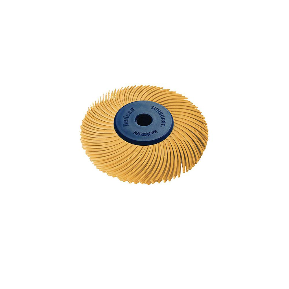 Dedeco Sunburst 2 in. 3-PLY Radial Discs 1/4 in. Arbor Thermoplastic Cleaning and Polishing Tool, X-Fine 6 Micron (1-Pack)