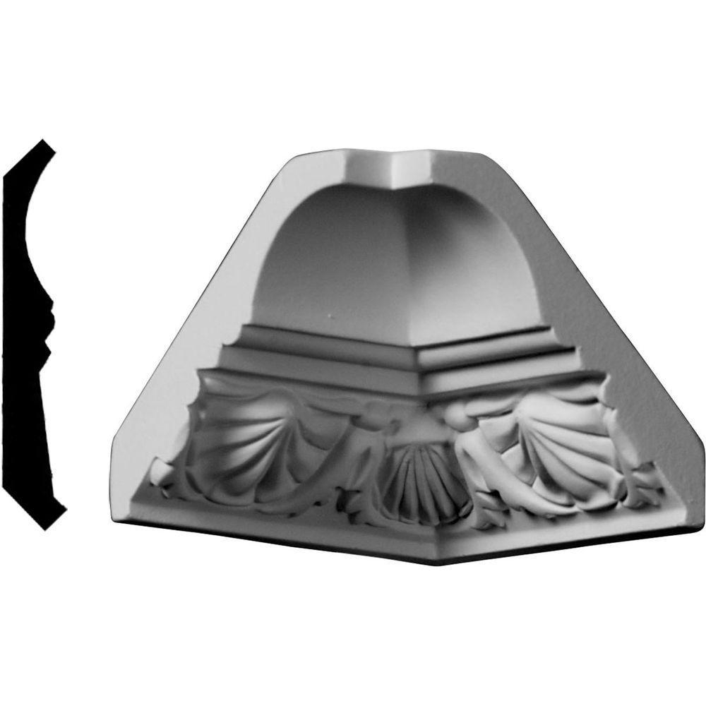 2-3/4 in. x 2-3/4 in. x 2-7/8 in. Polyurethane Crown Inside Corner Moulding