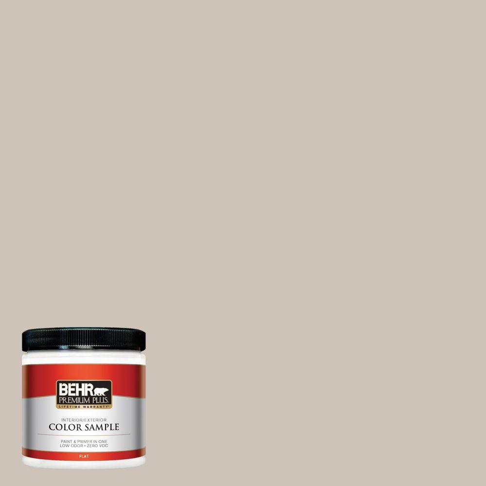BEHR ULTRA 8 oz  #ICC-89 Gallery Taupe Matte Interior/Exterior Paint and  Primer in One Sample