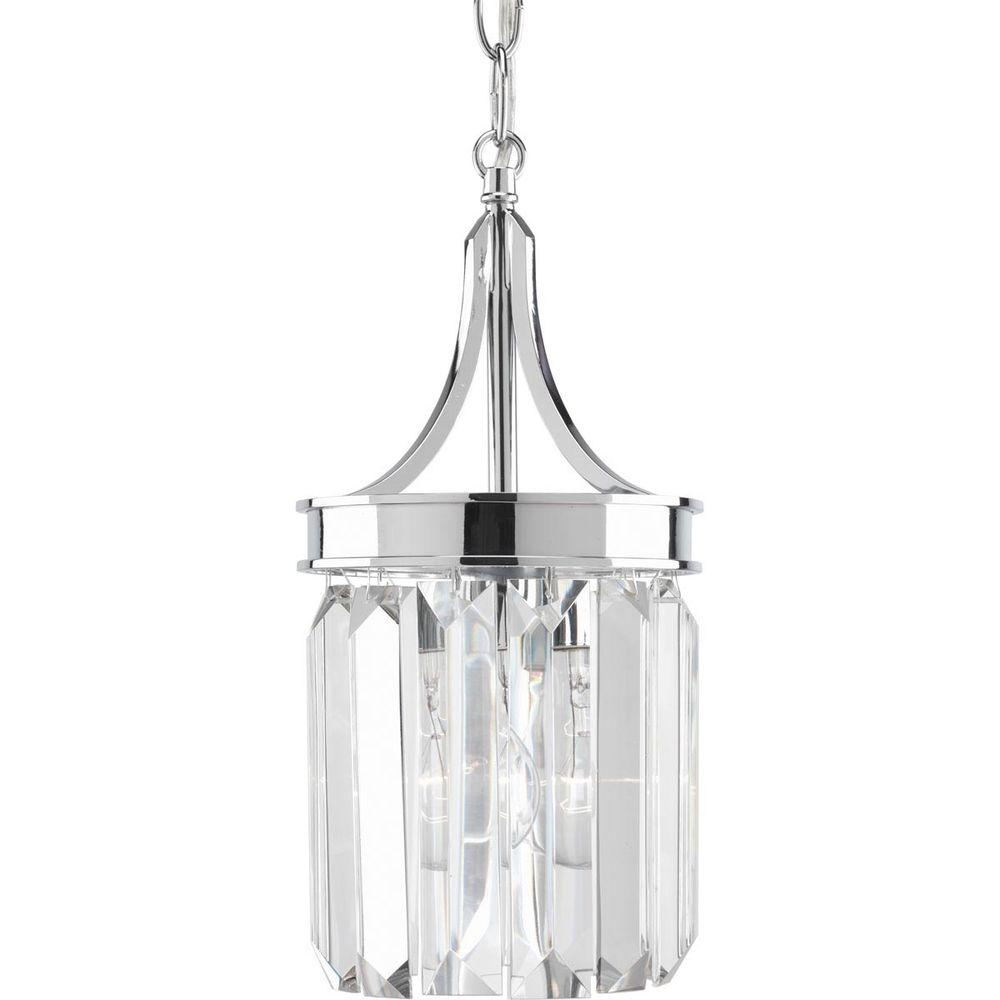 Ordinaire Progress Lighting Glimmer Collection 6 In. 1 Light Polished Chrome Mini  Pendant