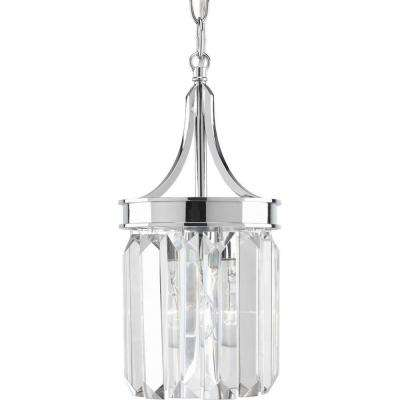 Glimmer Collection 6 in. 1-Light Polished Chrome Mini-Pendant