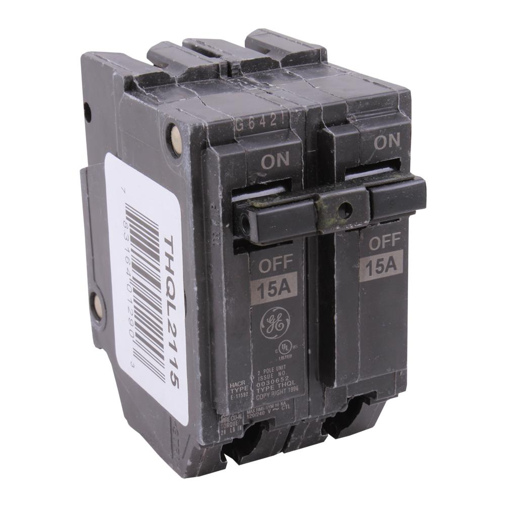 GE Q-Line 15 Amp 2 in. Double Pole Circuit Breaker