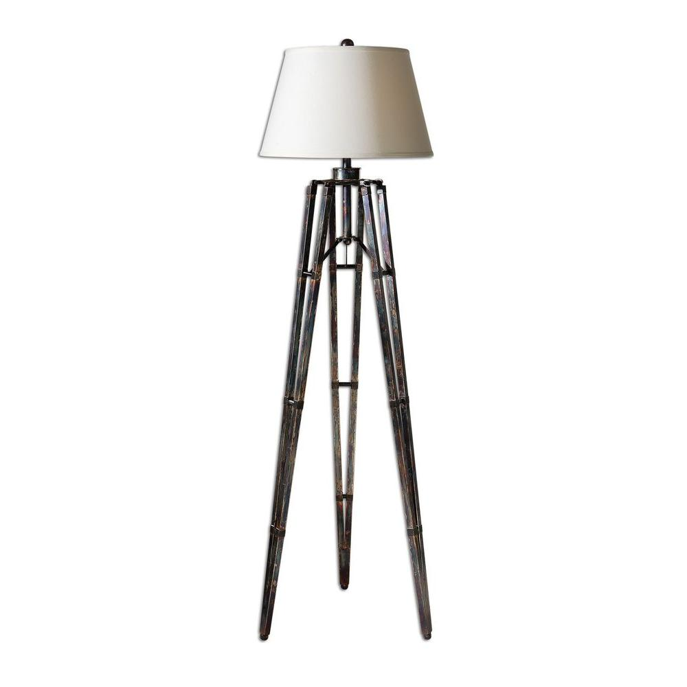 Home Decorators Collection 68 in. Oxidized Bronze Floor Lamp