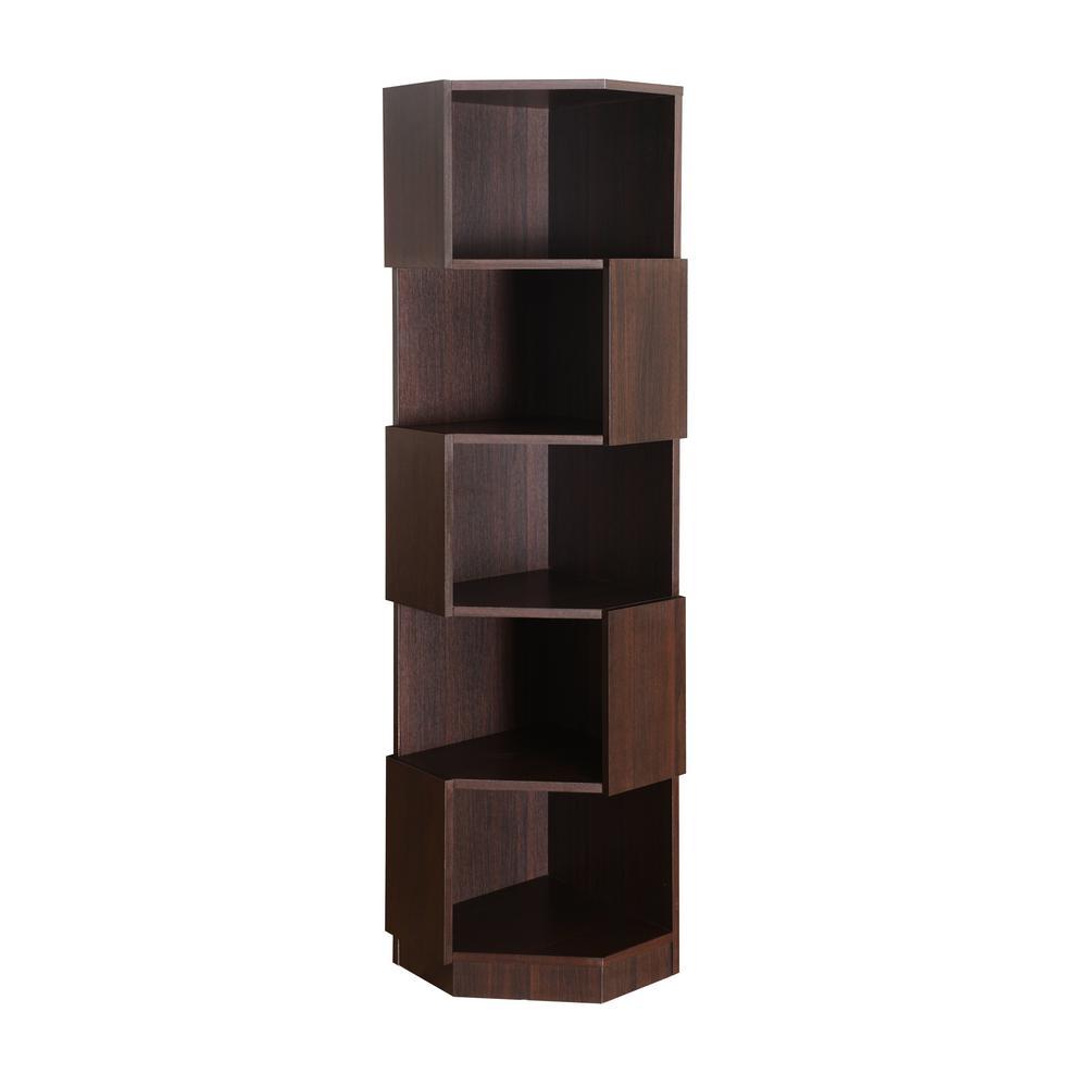 Dolard Espresso Bookcase