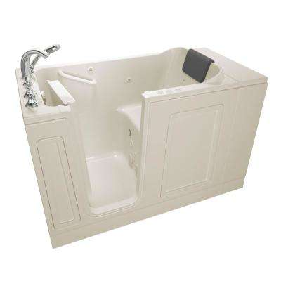 Acrylic Luxury 51 in. x 30 in. Left Hand Walk-In Whirlpool and Air Bathtub in Linen