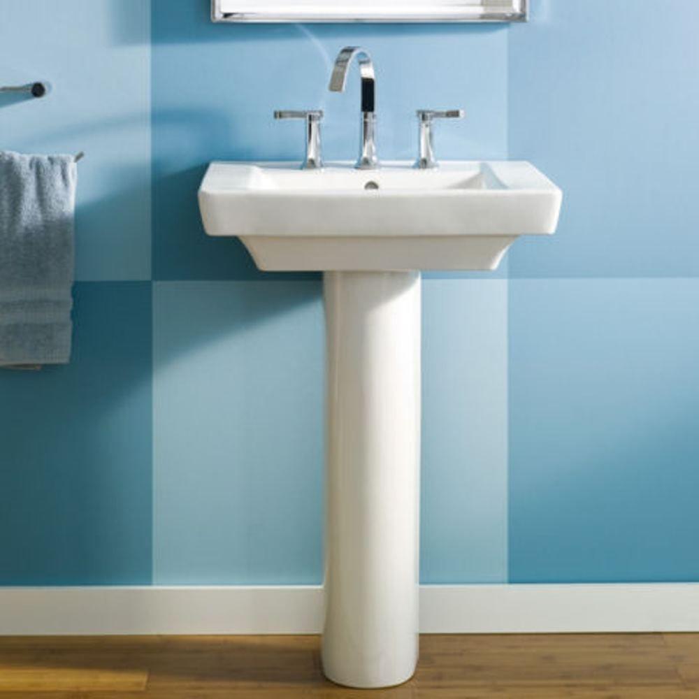 American Standard Boulevard Pedestal Combo Bathroom Sink In White 0641 800 020 The Home Depot