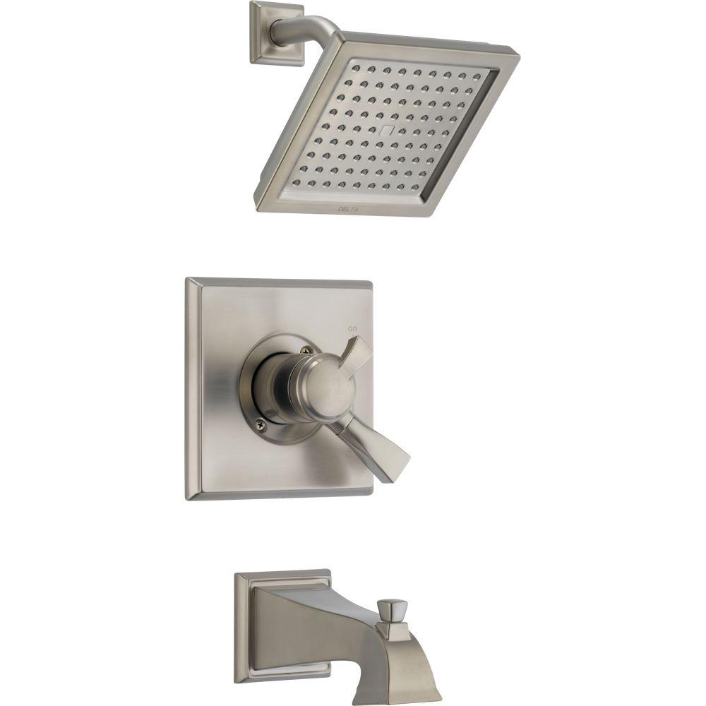 Dryden 1-Handle Tub and Shower Faucet Trim Kit in Stainless (Valve
