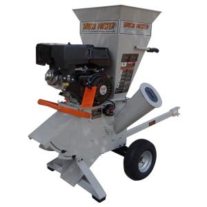 Brush Master 5 inch Dia Feed with Electric Start Commercial Duty Chromium Gas Wood Chipper by Brush Master