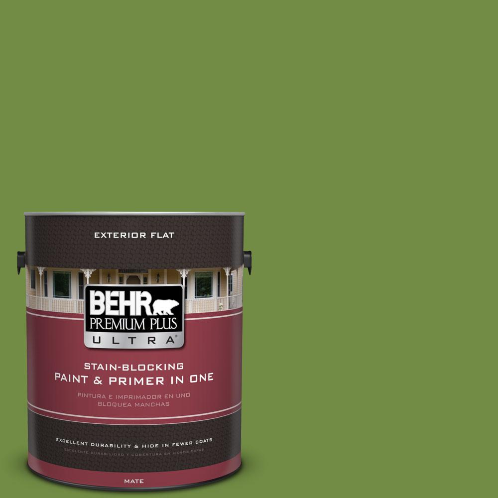 BEHR Premium Plus Ultra 1-gal. #420D-6 Thyme Green Flat Exterior Paint